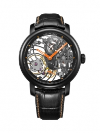 Aerowatch Renaissance Skeleton Black Tornado Orange