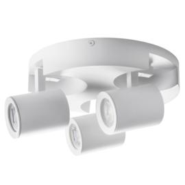Laurin 3 - rond - wandlamp - plafondlamp spot - incl LED - wit