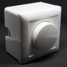 LED Pro dimmer - universel - 2-500 watt - opbouw- inclusief afdekplaat