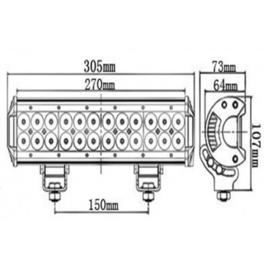 led bar - 12/24v - 30 cm- 72 watt- verstraler - magnetisch