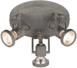 betonlook 3 - wandlamp - plafondlamp spot - incl LED
