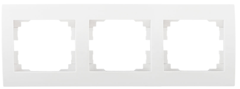 Raam wit glans 3 horizontaal