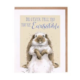 "Wrendale greeting card ""Earisistible"" - konijn"