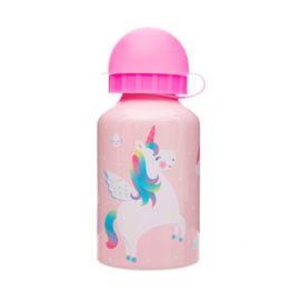 Metalen drinkflesje rainbow unicorn
