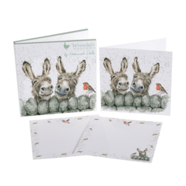 """Wrendale Notecard Pack """"Hee Haw"""" - ezel"""