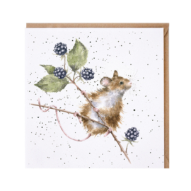 "Wrendale greeting card - ""Brambles"" - muis"