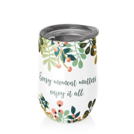 Bioloco rvs office cup - Every moment matters