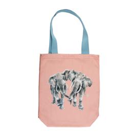 "Wrendale canvas tote bag ""Age is Irrelephant"" - olifant"