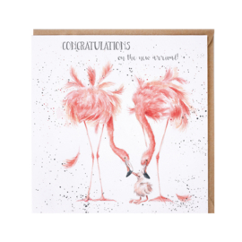"Wrendale greeting card ""New Arrival"""