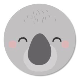 Tante Kaartje sticker 50mm - Faces - Koala - per 10