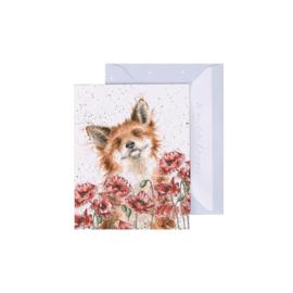 """Wrendale mini card """"Poppy Field"""" - vosje"""