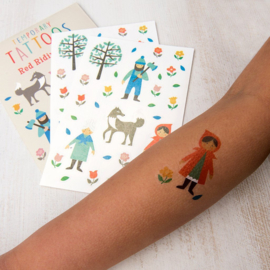 Plak tattoos - Roodkapje
