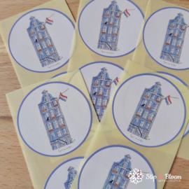 Sticker 45mm - grachtenpand - per 10