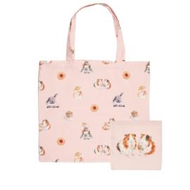 "Wrendale foldable shopping bag ""Lettuce be Friends"" - cavia"