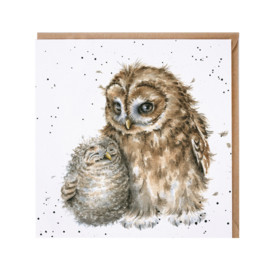 "Wrendale greeting card - ""Owl-ways By Your Side"""