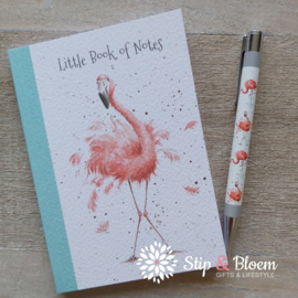 "Wrendale A6 Paperback Notebook ""Flamingo"""