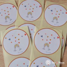 Sticker 45mm - champagne - per 10