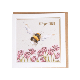 "Wrendale greeting card ""BEEyouTIFUL!"" - hommel"