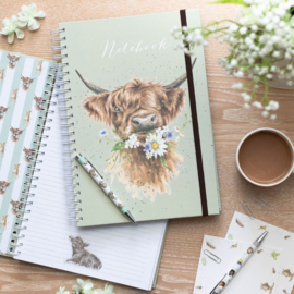 "Wrendale A4 Notebook ""Highlander Cow"""