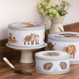 Wrendale Cake Tin Nest - cow/fox/hedgehog