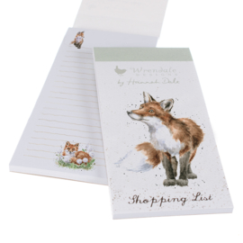 """Wrendale Magnetic Shopping Pad """"Bright Eyed & Bushy Tailed"""" - vos"""
