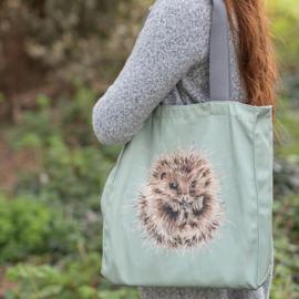"Wrendale canvas tote bag ""Awakening"" - egel"