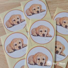 Sticker 45mm - puppy - per 10