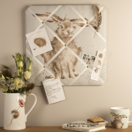 "Wrendale Fabric Notice Board - ""Hare Brained"" - haas"