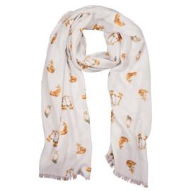 """Wrendale sjaal """"Fox"""" - vos"""