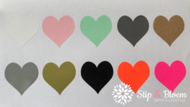 Sticker hart - mix - per 60