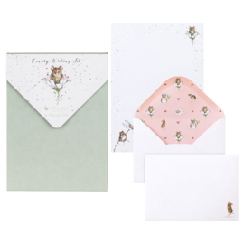 """Wrendale Letter Writing Set """"Oops a Daisy"""" - muis"""