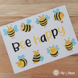 Ansichtkaart - Bee Happy