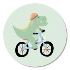Tante Kaartje sticker 50mm - Boho Animals - Dino - per 10
