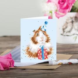 "Wrendale mini card ""Guinea be a Great Day"" - cavia"
