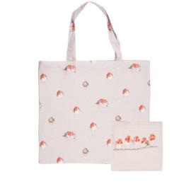 """Wrendale foldable shopping bag """"Jolly Robin"""" - roodborstje"""