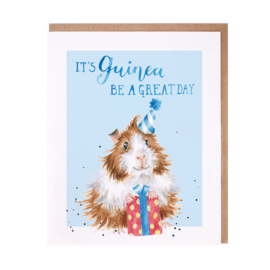 "Wrendale greeting card ""Guinea be a Great Day"" - cavia"
