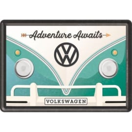 Metal postcard - Volkswagen Bulli - Adventure Awaits