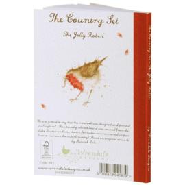 "Wrendale A6 Paperback Notebook ""Jolly Robin"""