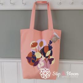 Bio katoenen shopper - Fleurs