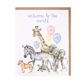 """Wrendale greeting card """"Welcome to the World"""""""