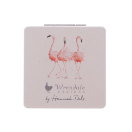 "Wrendale compactspiegel ""Pretty in Pink"" - flamingo"