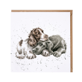 """Wrendale greeting card - """"Growing Old Together"""" - hond"""