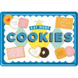 Metal postcard - Eat More Cookies