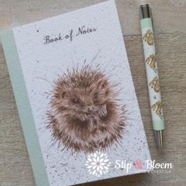 """Wrendale A6 Paperback Notebook """"Hedgehog"""" - egel"""
