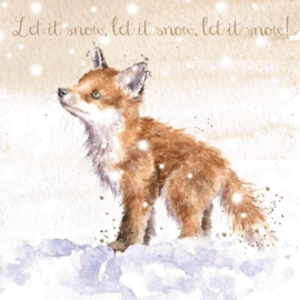 """Wrendale Boxed Christmas Cards  """"Let it Snow"""""""