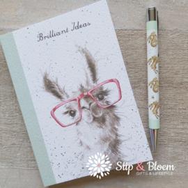 "Wrendale A6 Paperback Notebook ""Llama"""