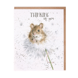 "Wrendale greeting card ""Thinking of You"" - muis"
