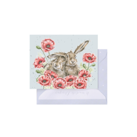 """Wrendale mini card """"Love is in the Hare"""" - haas"""