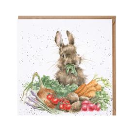"Wrendale greeting card - ""Grow Your Own"" - konijn"