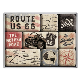 Magneetset - Route 66 Bike Map
